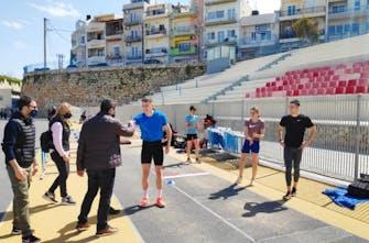 Δεκαπέντε αθλητές στίβου ήρθαν στο Ηράκλειο για προετοιμασία στο Στάδιο Ελευθερίας (Pics)
