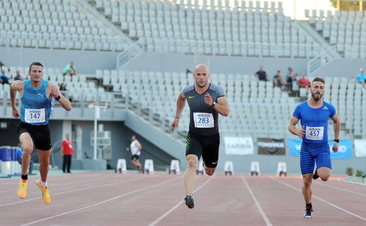 Στο δεύτερο σκαλί του βάθρου ο Νυφαντόπουλος στα 100μ.