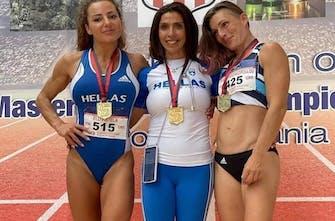 Συλλογή μεταλλίων από την Ελλάδα στο Βαλκανικό πρωτάθλημα στίβου βετεράνων