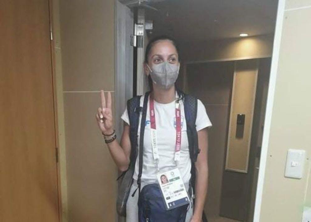 Μπήκε στο Ολυμπιακό χωριό η Πεσιρίδου και περιμένει τους συναθλητές της