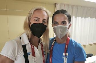 Έφτασε στο Ολυμπιακό Χωριό η Εθνική ομάδα στίβου (Pics)