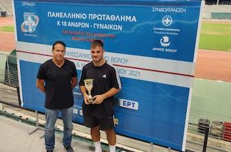 Αθλητής των αγώνων ο Μαντζουράνης, καλά αποτελέσματα στο Πανελλήνιο Κ18