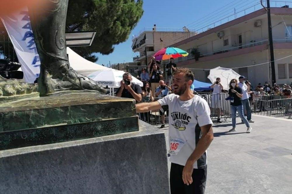 Τρίτος Έλληνας στο Σπάρταθλον ο Ηρακλειώτης Εμμ. Κωνσταντουλάκης