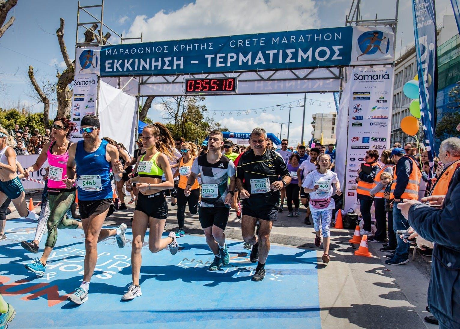 Περίπου 2.000 οι συμμετέχοντες στις εκδηλώσεις του Μαραθώνιου Κρήτης