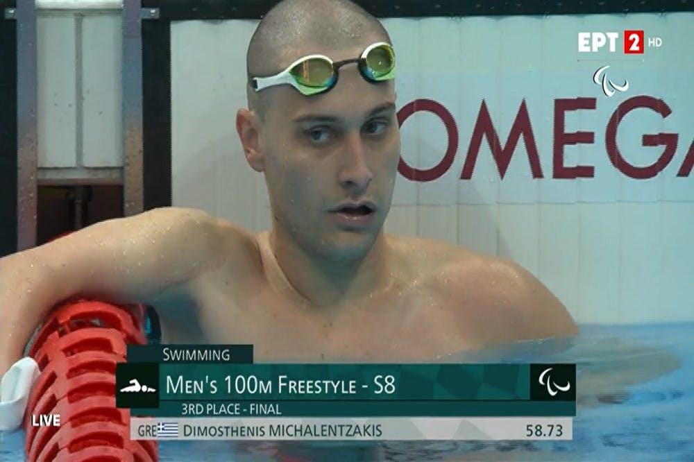 «Χάλκινος» Παραολυμπιονίκης ο Μιχαλεντζάκης στα 100μ. ελεύθερο S8