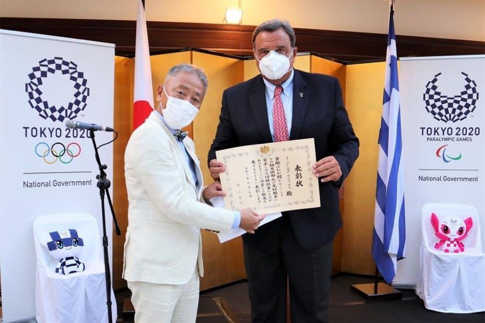 Ο Σπύρος Καπράλος τιμήθηκε από τον Πρέσβη της Ιαπωνίας στην Ελλάδα