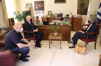 Συνάντηση Σακοράφα-Λαμπρινού για τη διεύρυνση συνεργασίας του Δήμου με τον ΣΕΓΑΣ