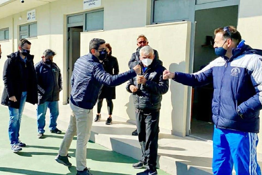 Επίσκεψη στις εγκαταστάσεις του ΕΑΚΗ για τον Λευτέρη Αυγενάκη