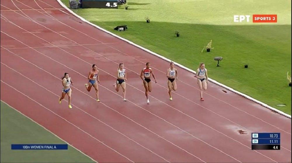 Τρίτη η Ελλάδα στα 100 μέτρα με την Σπανουδάκη