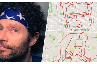 O καλλιτέχνης δρομέας Lenny Maughan στο runbeat: «Ζωγραφίζει»... τρέχοντας