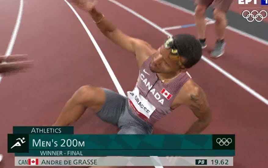Καταπληκτικός ο De Grasse στα 200μ., χρυσό με 19.62!