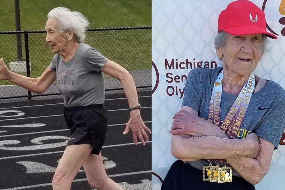 Γυναίκα 100 ετών έσπασε 2 παγκόσμια και ένα εθνικό ρεκόρ την ίδια μέρα! (Vids)