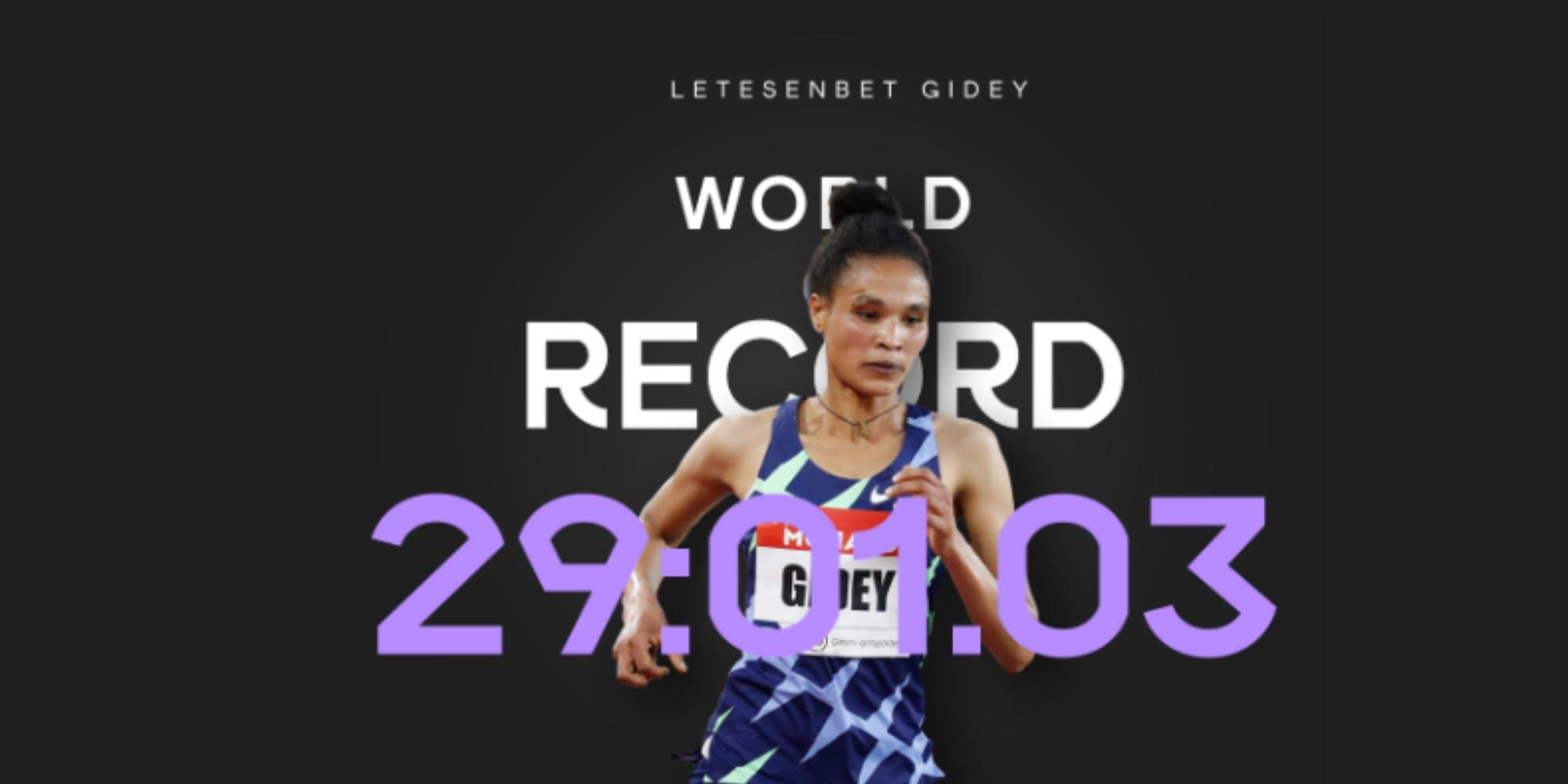 Έσπασε ξανά το παγκόσμιο ρεκόρ στα 10.000 μ. γυναικών, 29:01.03 από τη φοβερή Gidey