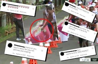 Παγκόσμια κατακραυγή για την αντιαθλητική συμπεριφορά του Γάλλου μαραθωνοδρόμου