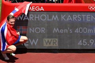 Ασύλληπτο Παγκόσμιο ρεκόρ από τον Karsten Warholm στα 400μ. εμπ. με 45.94