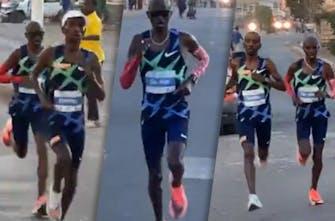 Νικητής ο Mo Farah στο Τζιμπουτί που κατέρρευσε στον τερματισμό μαζί με τον Bashir Abdi!