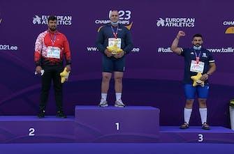 Χάλκινο μετάλλιο ο Μουζενίδης στη σφαιροβολία στο Ευρωπαϊκό Κ23