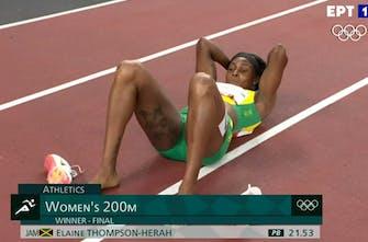 Χρυσή ολυμπιονίκης στα 200μ. γυναικών η Thompson-Herah με 21.53!